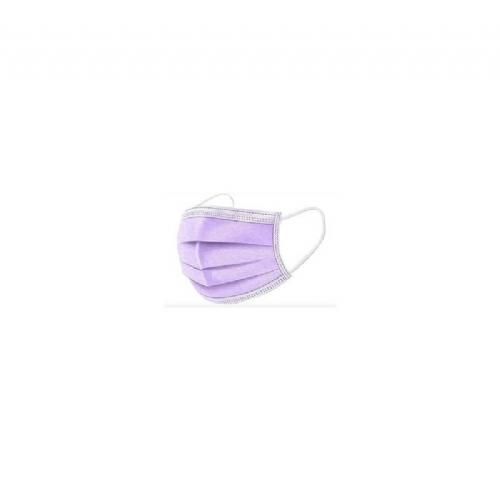 Mascarilla quirurgica desechable - interapothek (10 unidades color lila)