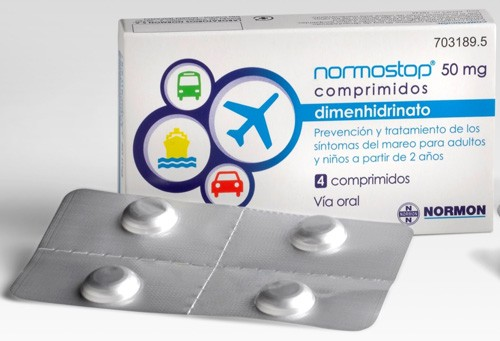 NORMOSTOP 50 MG COMPRIMIDOS , 4 comprimidos (Blister Al-Al (poliamida/Al/PVC-Al)
