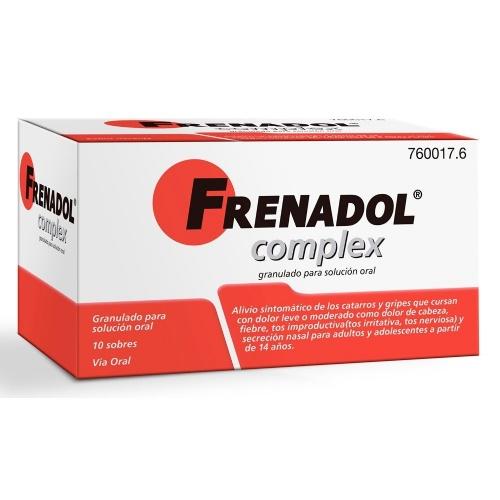 FRENADOL COMPLEX GRANULADO PARA SOLUCION ORAL , 10 sobres