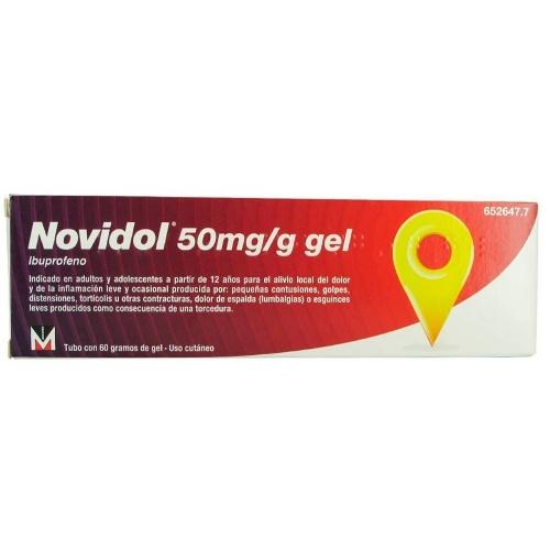 NOVIDOL 50 mg/g GEL , 1 tubo de 60 g