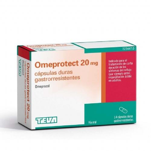 OMEPROTECT 20 mg CAPSULAS DURAS GASTRORRESISTENTES, 14 cápsulas (blister)