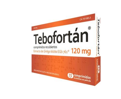 TEBOFORTAN 120 MG COMPRIMIDOS RECUBIERTOS CON PELICULA , 15 comprimidos