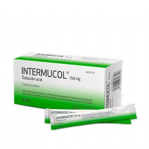INTERMUCOL 750 mg SOLUCION ORAL , 12 sobres