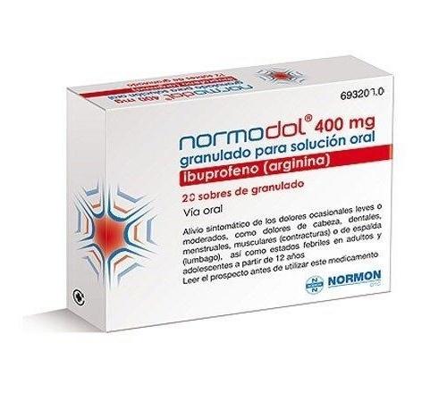 NORMODOL 400 mg GRANULADO PARA SOLUCION ORAL EFG, 20 sobres