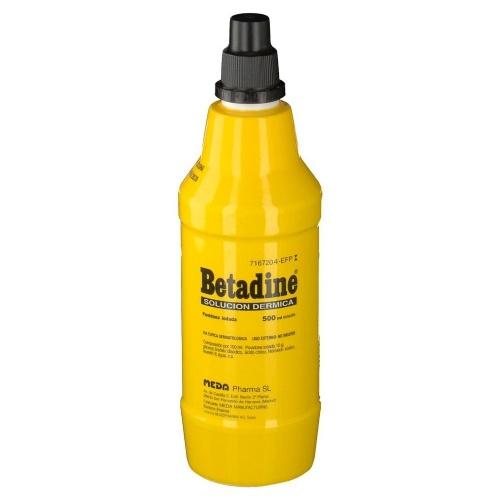 BETADINE 100 MG/ML SOLUCIÓN CUTÁNEA , 1 frasco de 500 ml