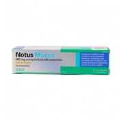 NOTUS MUCUS 600 MG COMPRIMIDOS EFERVENCENTES SABOR LIMON, 20  comprimidos