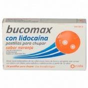 BUCOMAX CON LIDOCAINA PASTILLAS PARA CHUPAR SABOR NARANJA, 24 pastillas