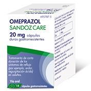 OMEPRAZOL SANDOZ CARE 20 MG CAPSULAS DURAS GASTRORRESISTENTES 14 cápsulas (FRASCO)