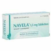 NAVELA 1,5 MG COMPRIMIDO EFG , 1 comprimido