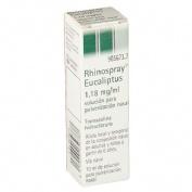RHINOSPRAY EUCALIPTUS 1,18 mg/ ml SOLUCION PARA PULVERIZACION NASAL , 1 envase pulverizador de 10 ml