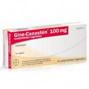 GINE-CANESTEN 100 mg COMPRIMIDOS VAGINALES , 6 comprimidos